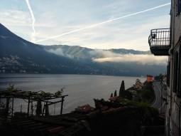 La vista dal bed & breakfast Cà Spiga a Laglio, lago di Como.